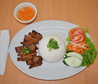 Charbroiled Pork on Steamed Rice